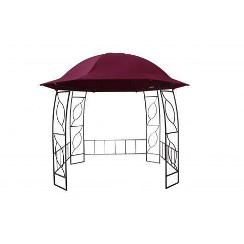 Pavilion gradina rotund cadru metalic + poliester grena D 3 m