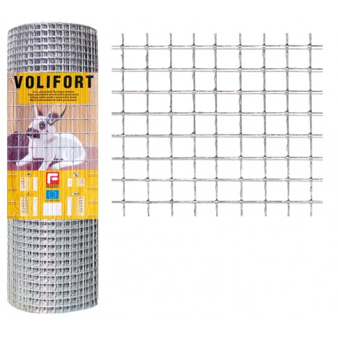 Plasa gard ornamental Volifort, zincata, 0,5 x 10 m (0,9 x 16 x 16 mm)