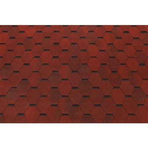 Sindrila bituminoasa Eco Roof hexagon rosu