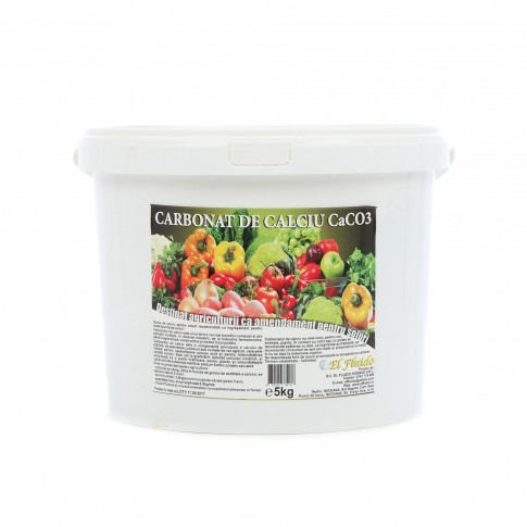 Carbonat de calciu CaCO3 El Fluido, granule, pentru toate tipurile de culturi,  5 kg