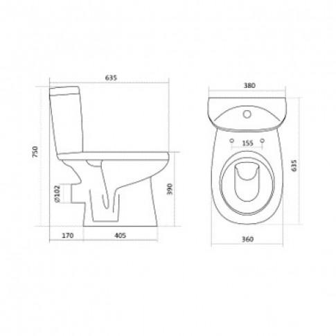 Set compact WC + rezervor + mecanism + capac Fayans Enjoy WQ7F66610001911