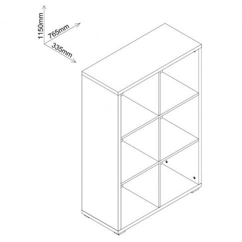 Etajera 4, PAL, stejar bardolino, 76.5 x 33.5 x 115 cm, 3C