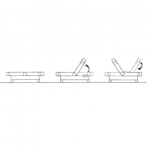 Canapea extensibila 3 locuri Click-Clack, cu lada, Manhattan, negru + alb, 183 x 88 x 82 cm, 1C
