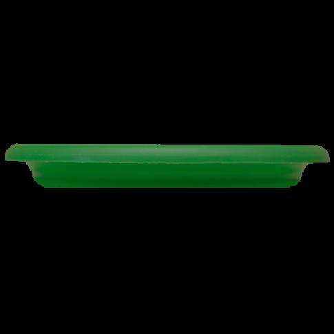 Farfurie ghiveci Diana, plastic, rotund, verde, D 13.8 cm