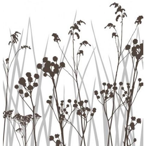 Bucatarie Nemira, alb + maro lucios + print P33, 263.5 cm, 9C
