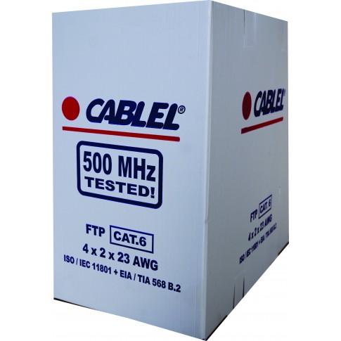 Cablu FTP Cat 6, 4 x 2 x 23 AVG, cupru