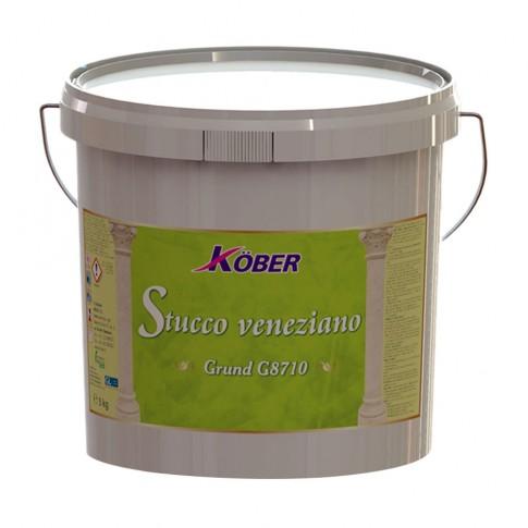 Amorsa perete Kober Stucco Veneziano G8710, interior, alb antic, 5 kg