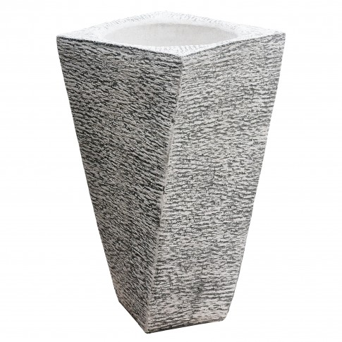 Ghiveci din beton Torino, alb, patrat, pentru exterior, 53 x 100 cm