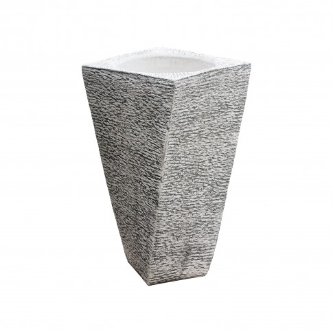 Ghiveci din beton Torino, alb, rotund, pentru exterior, 40 x 74 cm