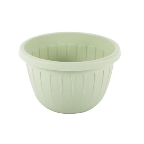 Ghiveci din plastic Stella, suspendat, verde oliv, D 26 cm