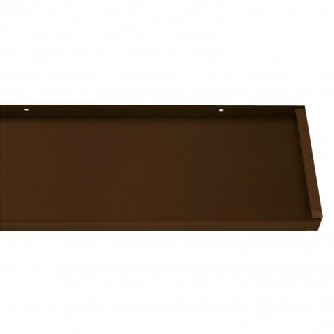 Glaf aluminiu exterior pentru ferestre, maro RAL 8017, 21 x 300 x 0.18 cm
