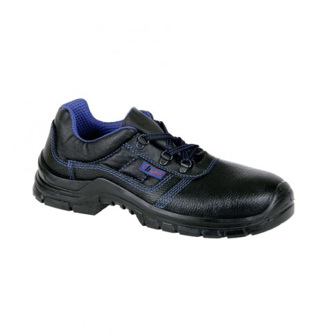 Pantofi de protectie Gorun cu bombeu metalic, piele +  poliamida, negru, S1 SRC, marimea 37