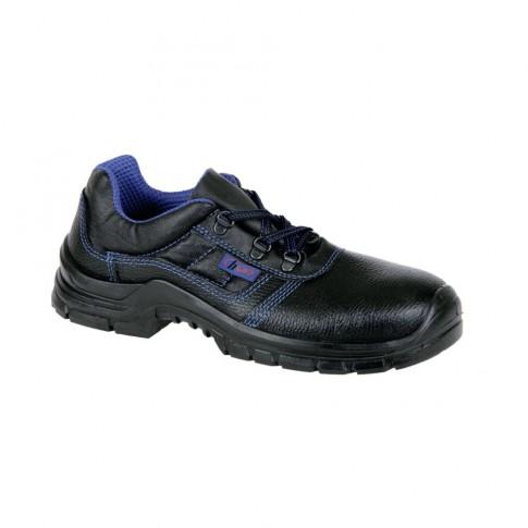 Pantofi de protectie Gorun cu bombeu metalic, piele +  poliamida, negru, S1 SRC, marimea 46