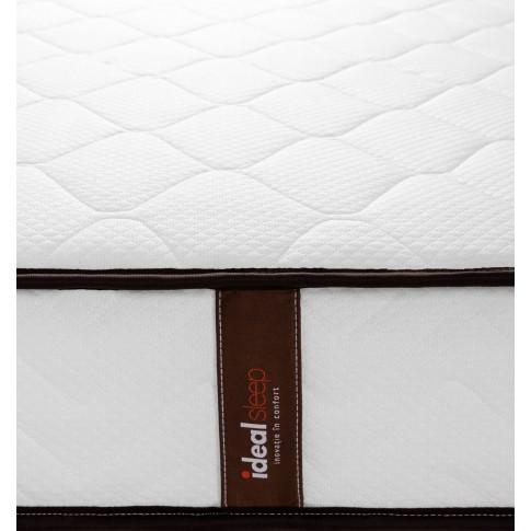 Saltea pat Ideal Sleep, 1 persoana, ortopedica, cu spuma poliuretanica + arcuri, 80 x 190 cm