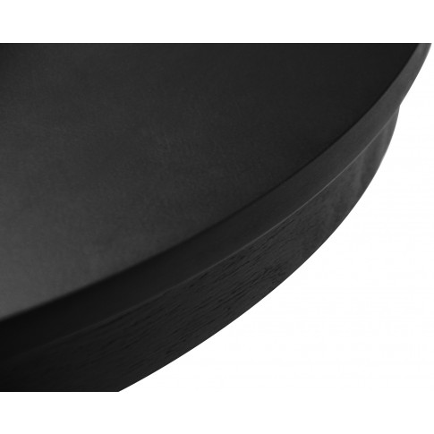 Masa bucatarie fixa Nisa, rotunda, 4 persoane, neagra, 80 x 78.5 cm, 2C