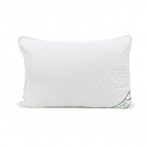 Perna pentru dormit matlasata puf siliconizat antialergic + microfibra alb 50 x 70 cm