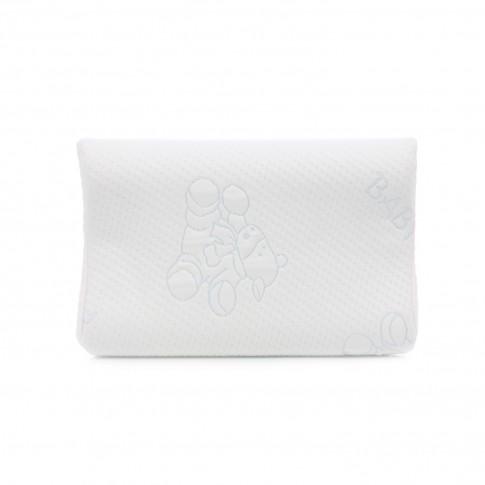 Perna pentru dormit Meltem anatomica poliuretan + bumbac alb 50 x 33 cm