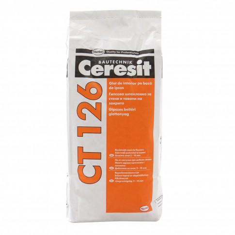 Glet Ceresit CT 126, pe baza de ipsos, interior, 5 kg