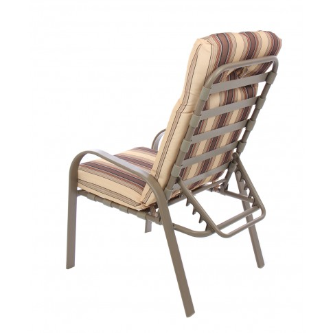 Set masa rotunda, cu 4 scaune si 2 tabureti cu perne, pentru gradina Maya TG-6001, din metal