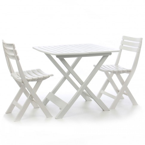 Set masa patrata, cu 2 scaune, pentru gradina ProGarden, din plastic