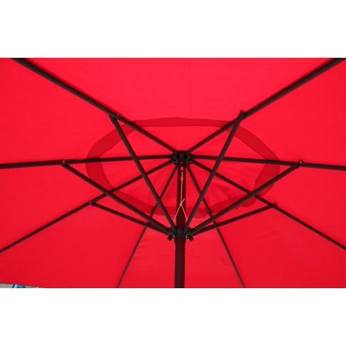 Umbrela soare pentru terasa Ecru SPU-00026 rotunda structura metal rosu D 300 cm