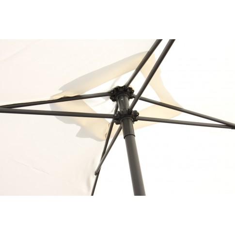 Umbrela soare pentru terasa SPU-00022 patrata structura metal crem 200x200 cm