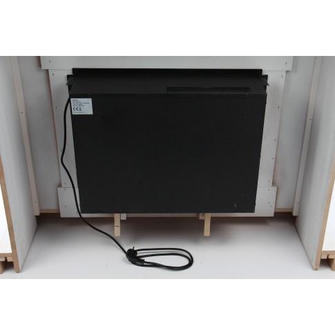 Semineu electric cu aeroterma, alb, din MDF, 2000 W, 1000  x 900 x 300 mm, cu telecomanda