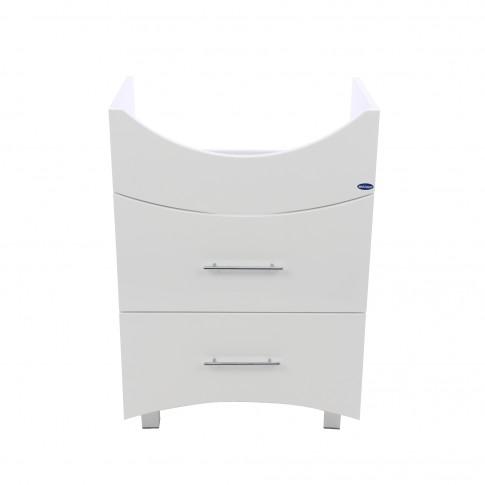 Masca baie pentru lavoar, Martplast Reflex, cu sertare, alba, 56 x 82 x 34 cm