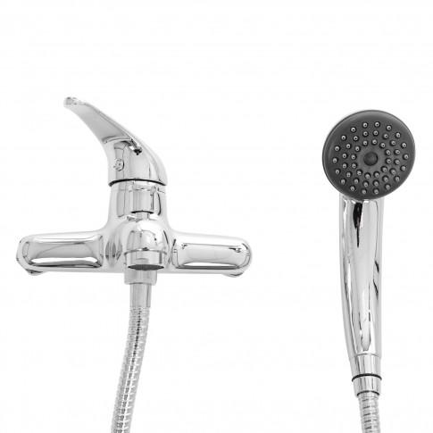 Baterie baie pentru cada / dus, Remer 35 F 022 + accesorii, montaj aplicat, monocomanda, finisaj cromat