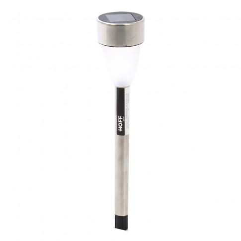 Lampa solara LED Hoff stick, inox, H 37 cm