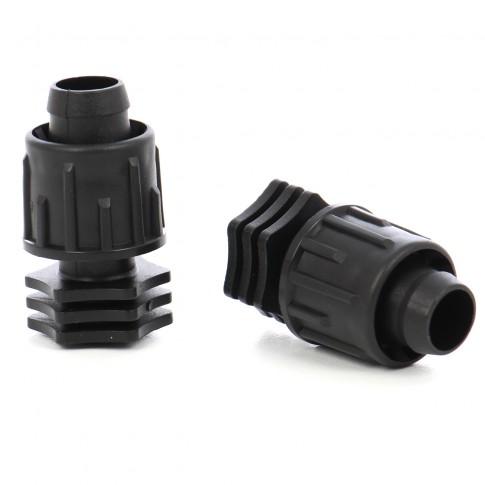Dop pentru banda pentru irigatii prin picurare, D 17 mm, negru, polipropilena, set 2  buc