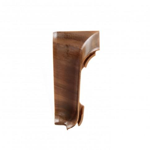 Colt interior pentru plinta Vilo Flex 528, nuc inchis, 55 x 22 mm, 2 buc/set