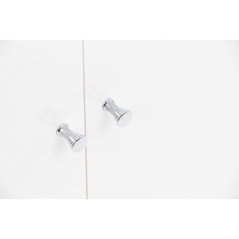Masca baie + lavoar + oglinda Savini Due Sun, cu usi, alb, 44.2 x 71.5 x 28.1 cm