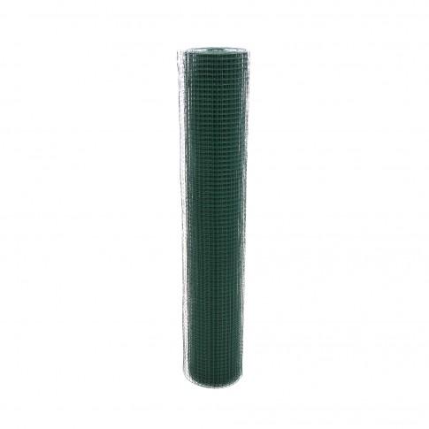 Plasa gard ornamental Grunman, acoperita cu PVC, verde, 1 x 10 m (0,9 x 13 x 13 mm)