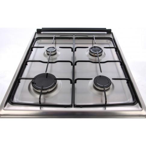 Aragaz pe gaz Electrolux EKG51154OX, 4 arzatoare, aprindere electrica, grill, rotisor, latime 50 cm, inox