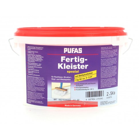 Adeziv pentru tapet, interior, Pufas Special, 2.5 kg