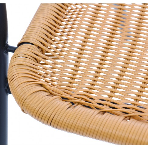 Scaun pentru gradina, G008/ZR2139, metal + polietilena, maro