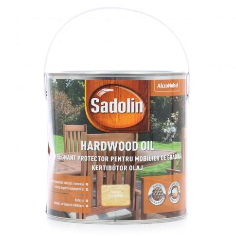 Lac pentru lemn Sadolin Hardwood Oil, incolor, exterior, 2.5 L