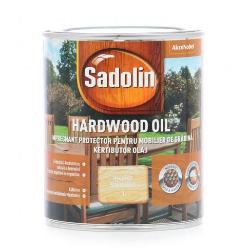 Lac pentru lemn Sadolin Hardwood Oil, incolor, exterior, 0.75 L