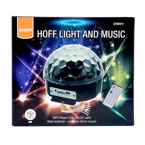 Glob disco LED Hoff Light and Music, cu telecomanda