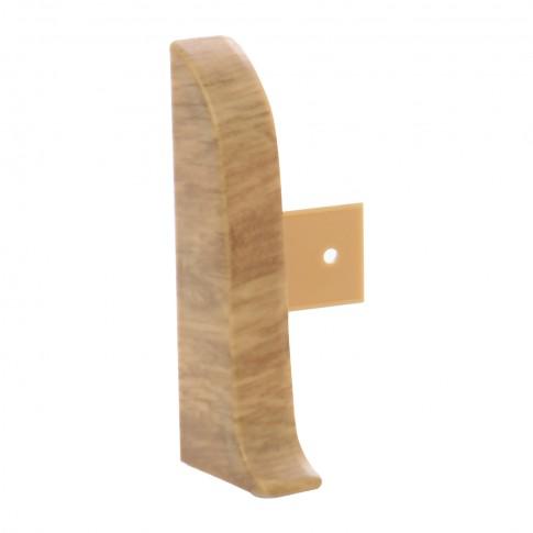 Terminatie pentru plinta, stanga / dreapta, Vilo Flex 518, PVC, stejar andante, 55 x 22 mm, 4 buc / set