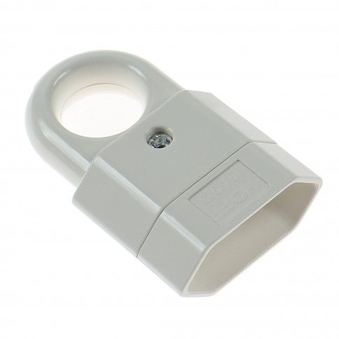 Cupla plata cu inel Hoff Line, policarbonat, IP20, alba, 10 A, 250 V