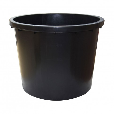 Butoi / cada plastic Dolplast, fara capac, 500 litri, negru D 103 cm