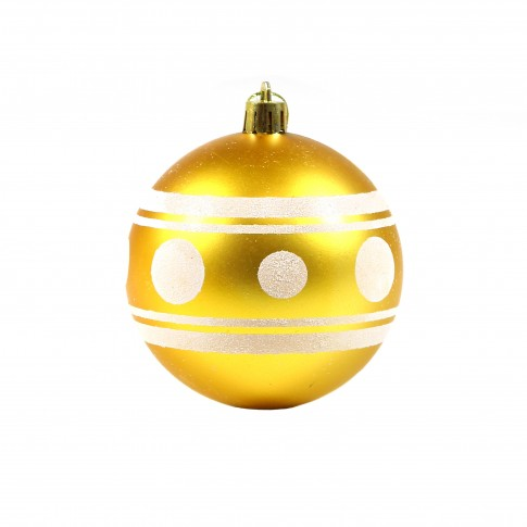 Globuri Craciun, aurii, D 8 cm, set 6 bucati, SD18-8-F05