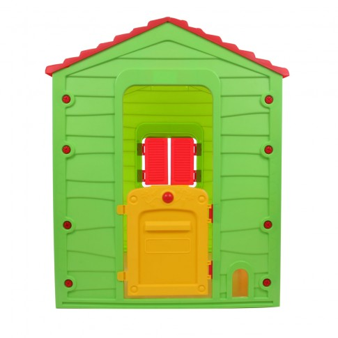 Casuta copii, pentru gradina, din plastic, interior / exterior, 118.5 x 106 x 126.5 cm