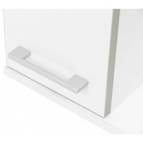 Dulap baie cu oglinda, iluminare si polita, 1 usa, stanga, Emilia 70, alb, 68 x 14.5 x 70.5 cm