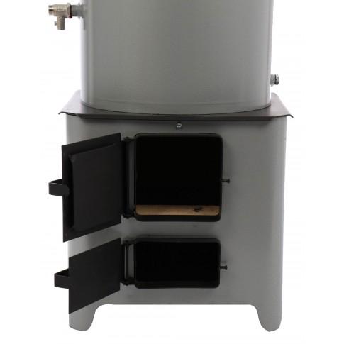 Ansamblu boiler pe lemne 90 L cu focar economic FM