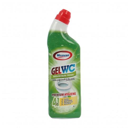 Solutie pentru toaleta Misavan Gel 4 in 1, fresh, 1L