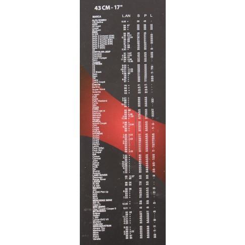 Stergator parbriz V-max, flexibil, 17 - 43 cm, 1 buc