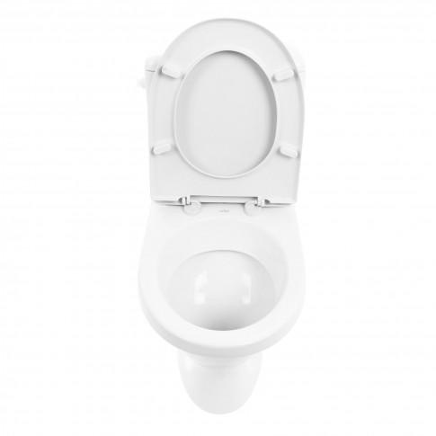 Set vas WC + rezervor + mecanism + capac Cersanit Roma  R010, 37 x 75.5 x 62.5 cm